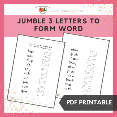 Jumble 3 Letters to Form Word