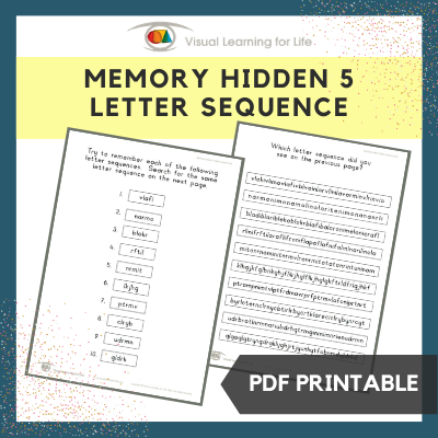 Memory Hidden 5 Letter Sequence