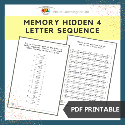 Memory Hidden 4 Letter Sequence