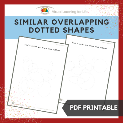 Similar Overlapping Dotted Shapes