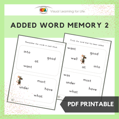 Added Word Memory 2