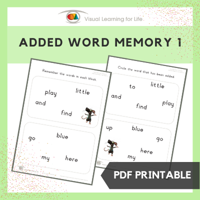 Added Word Memory 1