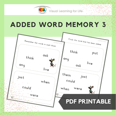 Added Word Memory 3