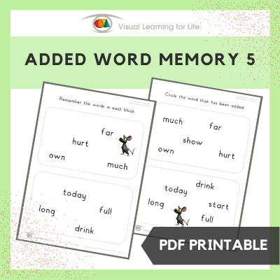 Added Word Memory 5