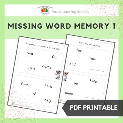 Missing Word Memory 1