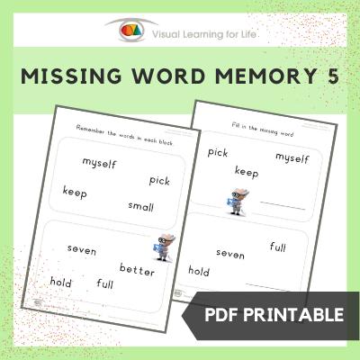Missing Word Memory 5