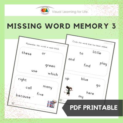 Missing Word Memory 3