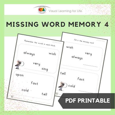 Missing Word Memory 4