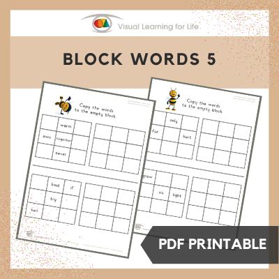 Block Words 5