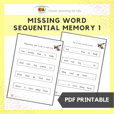 Missing Word Sequential Memory 1
