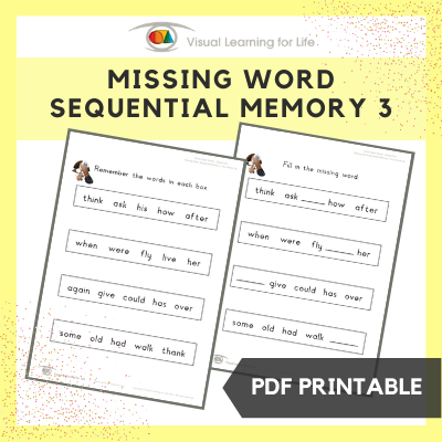 Missing Word Sequential Memory 3