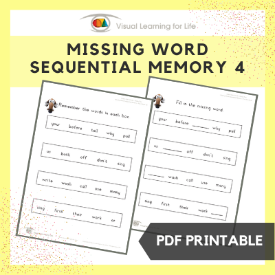 Missing Word Sequential Memory 4