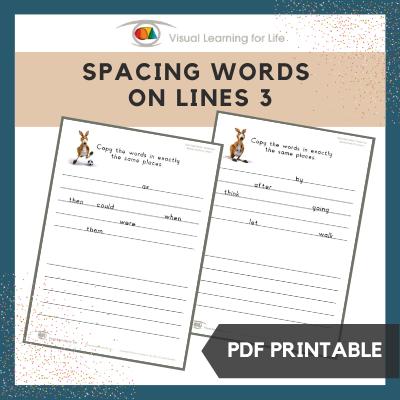Spacing Words on Lines 3