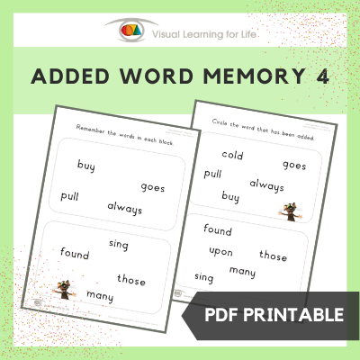 Added Word Memory 4