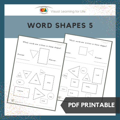 Word Shapes 5