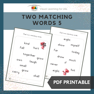 Two Matching Words 5