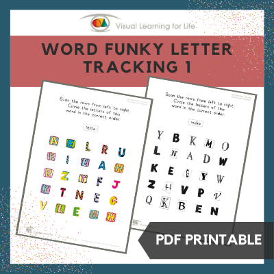 Word Funky Letter Tracking 1