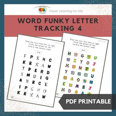 Word Funky Letter Tracking 4