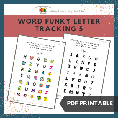 Word Funky Letter Tracking 5