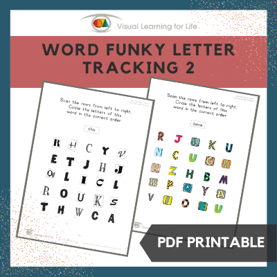 Word Funky Letter Tracking 2