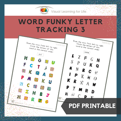 Word Funky Letter Tracking 3