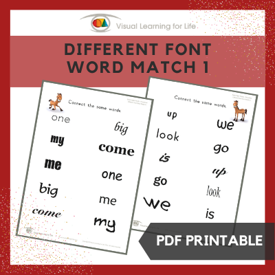 Different Font Word Match 1
