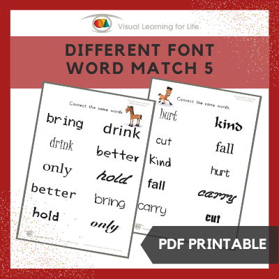 Different Font Word Match 5