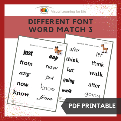 Different Font Word Match 3