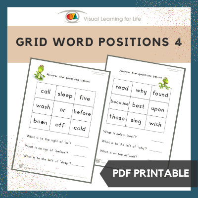 Grid Word Positions 4