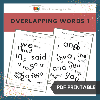 Overlapping Words 1