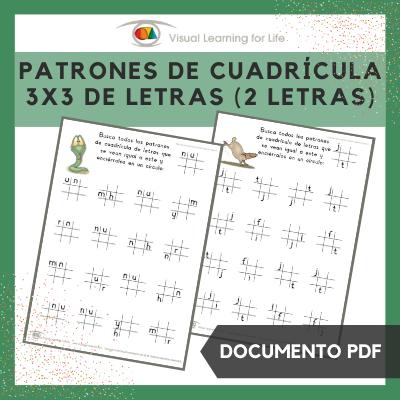 Patrones de Cuadrícula 3x3 de Letras (2 Letras)