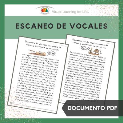 Escaneo de Vocales