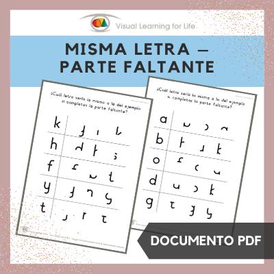 Misma Letra – Parte Faltante