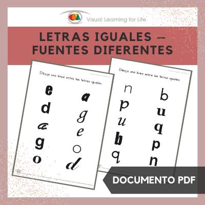 Letras Iguales – Fuentes Diferentes