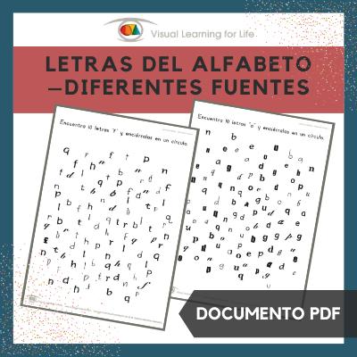 Letras del Alfabeto – Diferentes Fuentes