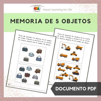 Memoria de 5 Objetos