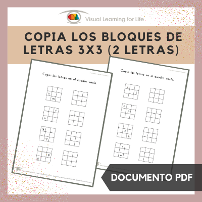Copia los Bloques de Letras 3x3 (2 Letras)