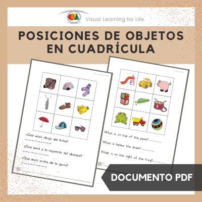 Posiciones de Objetos en Cuadrícula