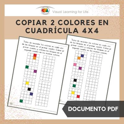 Copiar 2 Colores en Cuadrícula 4x4