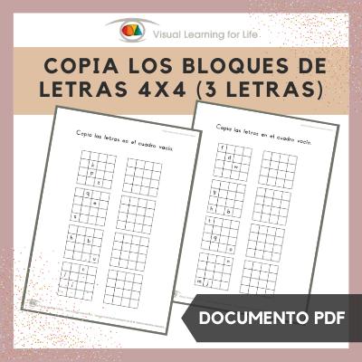 Copia los Bloques de Letras 4x4 (3 Letras)
