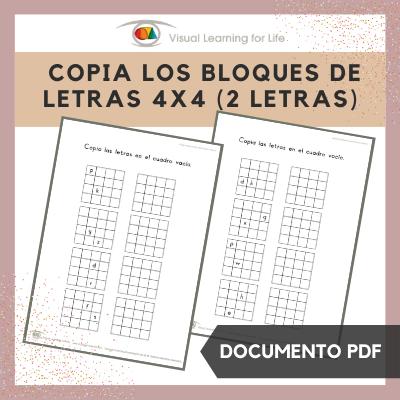 Copia los Bloques de Letras 4x4 (2 Letras)
