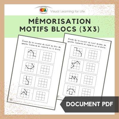 Mémorisation motifs blocs (3x3)