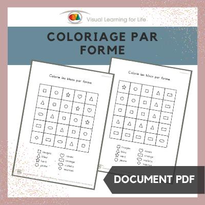 Coloriage par formes