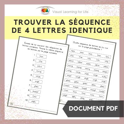 Trouver la séquence de 4 lettres identique