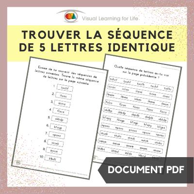Trouver la séquence de 5 lettres identique