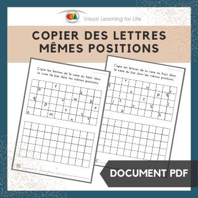 Copier des lettres mêmes positions