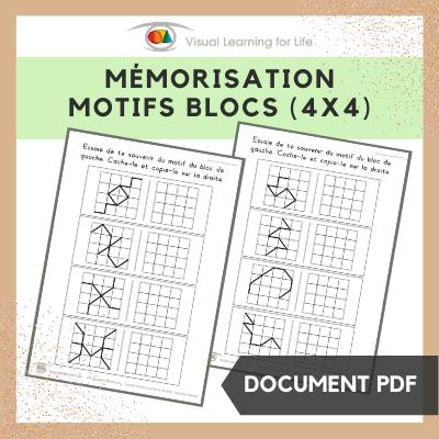 Mémorisation motifs blocs (4x4)