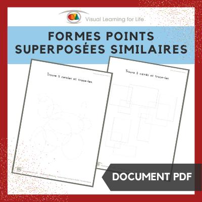 Formes points superposées similaires