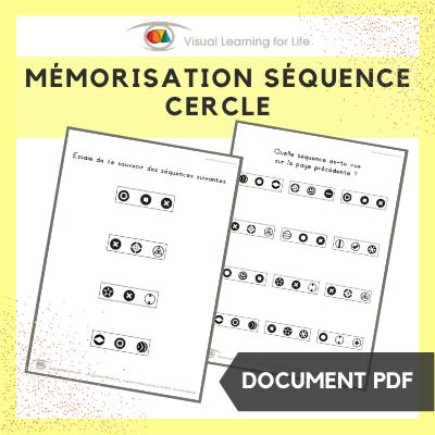 Mémorisation séquence cercle