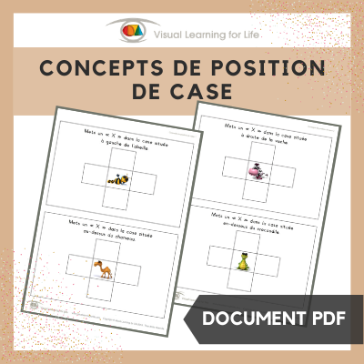 Concepts de position de case